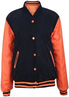Abrigo combinado naranja manga larga-Negro EUR€30.07