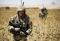 51 Squadron (Sqn) Royal Air Force (RAF) Regiment carry out a routine foot patrol in their area of operation (AO) to the south of Camp Bastion, Afghanistan.