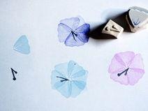 Hibiskus Blüten Set , Stempel, handgeschnitzt