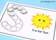 Fine Motor Alphabet Printables for Preschool