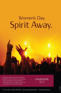 Women's Day is all about you. Get served what you truly deserve. Drop by and bring out your playful side at Tease, Thai Pavilion and Latitude. Begin with immersing in elixirs and our wicked bites with a 50% off. You're bound to be in the highest of spirits.   Venue: Vivanta by Taj - Gurgaon Date: 8th March, 2015  For reservations call 0124 6673000  #Vivantabytaj #WomensDay #Women