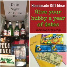 Love this idea!  A year of dates for your hubby.  Great ideas.