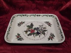 Portmeirion The Holly & The Ivy Lasagna Dish by RascalsRarities #etsyppt #etsyCIJ #ChristmasinJuly