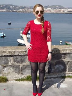 My Lovely World - Fashion Blog | Red Dress and Shoes | http://mylovelyworld9.com