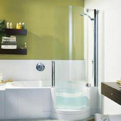 Ensemble Tiled Shower Tub Combo From Sterling   Bathroom ideas ...