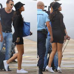 a1495ae74aaa Rihanna in Puma Basket Classic white sneakers
