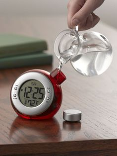 Water-Powered Clock - Add water and it runs - Great for camping / emergencies / tiny houses...  Gardener's Supply Co.