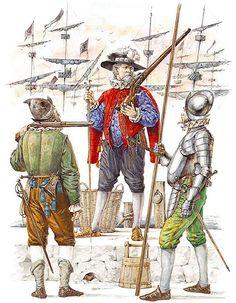 English Low Countries veterans: • Caliverman  • Musketeer  • Pikeman