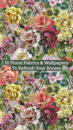 Fabric Wallpaper, Wall Wallpaper, Retro Pattern, Classical Art, Wall Treatments, Floral Fabric, Aesthetic Art, Surface Design, Floral Design