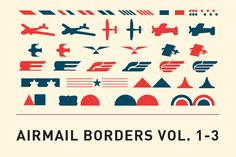 Airmail Borders Vol. 1-3 by Brand New Vintage on Creative Market
