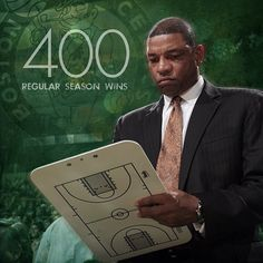 Congrats to Doc Rivers on his 400th regular season win as #Celtics head coach, which is third all-time in franchise history behind only Red Auerbach (795) and Tommy Heinsohn (427). #iamaceltic