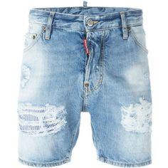 838f11b6 dsquared2 Short Jeans ($340) ❤ liked on Polyvore featuring men's fashion,  men's clothing, men's jeans, bottoms, men, shorts, denim blue, mens blue  jeans, ...