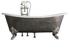 "The Bridlington 73"" Long Cast Iron Tub Package from Penhaglion - traditional - bathtubs - Baths of Distinction Inc."