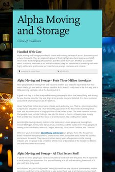 Alpha Moving and Storage
