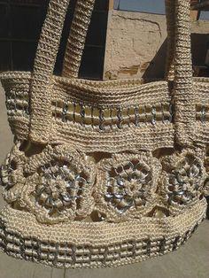 Soda Pop Pull Tab Handbag Gold and Aluminum So Cute   eBay