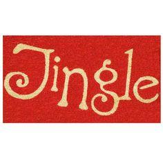 Home & More Jingle Door Mat