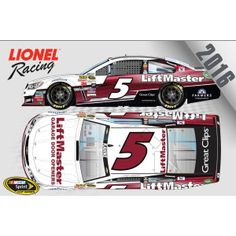 Pre-order the No. 5 Liftmaster Chevrolet SS that will be driven by #KaseyKahne this season.