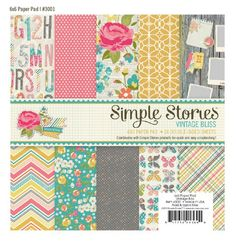 Vintage Bliss 6X6 Paper Pad by Simple Stories: IN LOVE with these colors + the whole collection