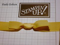 """Stampinantics: BOW TUTORIAL #1 (Looks great but no loops so not really a """"bow"""".)"""