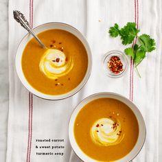 Roasted Carrot Turmeric Soup