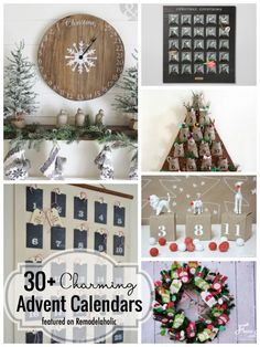 It's the Christmas Countdown! 30+ Charming Advent Calendars to Make or Buy | Remodelaholic | Bloglovin'