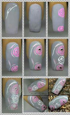 Nail art rose tutorial