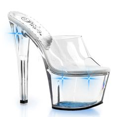 PLEASER SKY-301LT Clear-Blue Lights Platform Slides