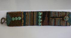Glasperlenarmbänder - Perlenarmband im Secessionsstil .. - ein Designerstück von sibea bei DaWanda