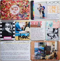 Project Life Week 47 – Left - The Evolution of a Hybrid Layout – From Pixels to Paper - My Top 5 Tips for Hybrid Project Life Scrapbooking by Traci Reed