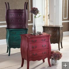 Vividly hued Bella Chest is a uniquely modern interpretation of the bombé chests originally produced in 18th-century France. Our twist? A proprietary, multistep, hand-finishing process of brilliant jewel tones that results in exceptional depth of color.