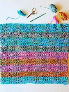 USA Jewells in the Sea Baby Blanket Crochet Pattern by Sharon Murphy