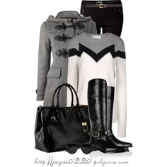 """Black, White and Gray"" by jaycee0220 on Polyvore"
