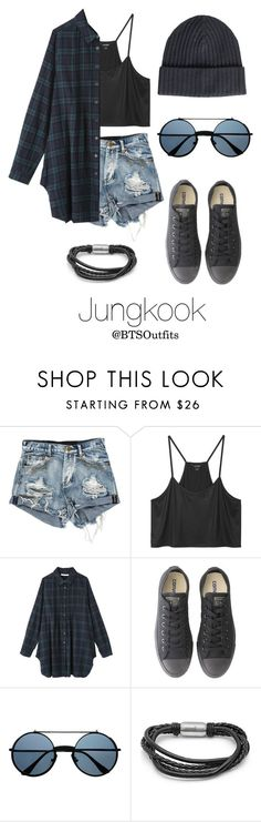 """Warped Tour with Jungkook"" by btsoutfits ❤ liked on Polyvore featuring Monki, Converse, SteelTime and Amanda Christensen"