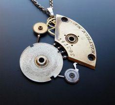 Justin Gershenson recicla maquinaria de relojería para convertirla en impresionante joyería.