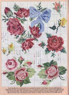 cross stitch - roses