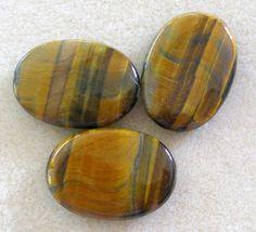 Tiger Eye Oval Gemstone Pendant Bead by CatsBeadKitsandMore, $3.99