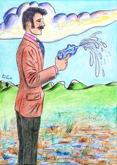 Agent mit Spritzpistole (Agent with Water Pistol, ca. 1992 by J.G.Wind