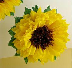 Sunflower tissue paper DIY