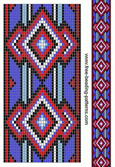 Lots of patterns on this site. free-beading-pattern-guitar-strap-red-white-blue-diamonds
