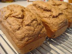 Low Fat Stevia Banana Bread from Food.com:   I love banana bread and this is an easy, healthy version that my family really enjoys.  One tip - if you're bananas aren't ripe enough for banana bread just pop them in the oven (in the peel) until they darken up. It brings out the sugars and gives them that sweet flavor needed for great banana bread.