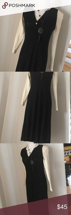 CHICOS BLACK DRESS WORN ONCE! Too big - 0 = 2-4. Deep black, flawless. Wear alone, pair with Chico's jacket in my closet! Dimensions to be provided. Any questions please ask! Offers accepted! Bundle for additional savings! Tx for browsing! Marian 💞New listing; will reduce upon request! Chico's Dresses
