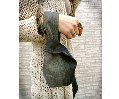 Dril de algodón japonés nudo pulsera embrague bolsa mini caso | Etsy