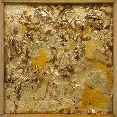 Collection Online   Robert Rauschenberg. Untitled (Gold Painting). ca. 1953 - Guggenheim Museum