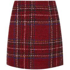 Red Tartan Check Skirt (238.940 IDR) ❤ liked on Polyvore featuring skirts, red skirt, tartan plaid skirt, red plaid skirts, red tartan plaid skirt and red tartan skirt