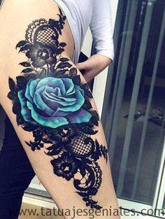 ✓ Completa colección de Tatuajes de Rosas y la explicación del significado de cada tipo por sus colores, formas y ubicación en el cuerpo.