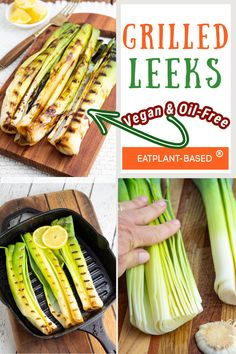 These Caramelized Grilled Leeks from EatPlant-Based can be made on the grill or in the oven. They have such a unique and sweet flavor and go well with rice, corn on the cob, and any other veggies and starch. These are the perfect summer side dish! Make these Grilled Leeks at your next BBQ, cookout, or dinner party! Vegan Gluten Free, Gluten Free Recipes, Low Carb Recipes, Vegan Recipes, Vegan Side Dishes, Summer Side Dishes, Vegan Grilling, Grilling Recipes, Vegane Rezepte