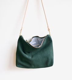 Suede Hobo Bag by Umbrella Collective