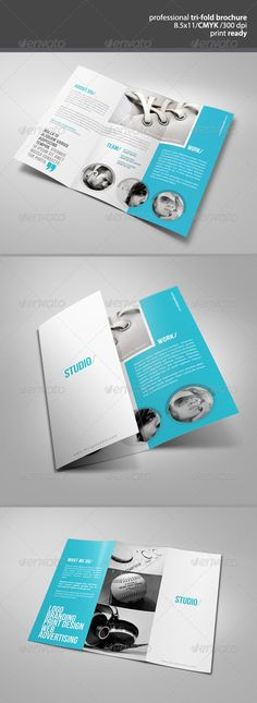 Clean Tri-Fold Brochure - GraphicRiver Item for Sale