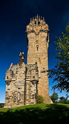 Wallace Monument, Scotland. Walls are 16 feet thick at the base.