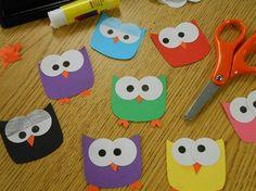 Hoot hoot! Owl paper craft / Zen  the Art of Teen Services - Click image to find more kids Pinterest pins